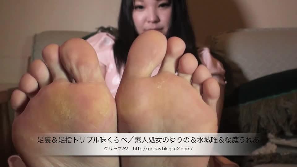 (ゆりの)三人の美10代小娘の脚の裏に着目したマニアムービー